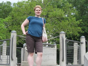 Me in Central Park on my Honeymoon.