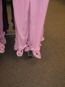Yep those are footie bunnies :-)