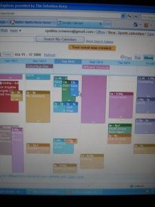 Kath-esque Google calendar :-)