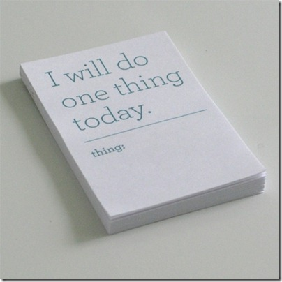 one things